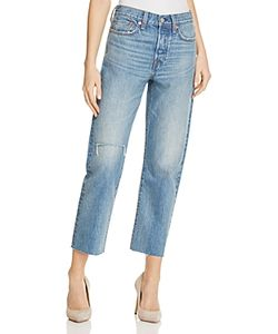 Levi's | High Rise Straight Cut-Off Jeans In