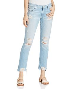 True Religion | Cameron Distressed Cropped Jeans