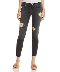 Hudson   Nico Rose Embroide Ankle Jeans In