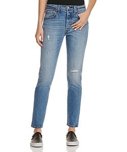 Levi's | 501 Distressed Skinny Jeans In