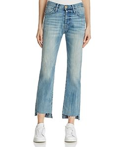 Current/Elliott | The Crossover Cropped Jeans In