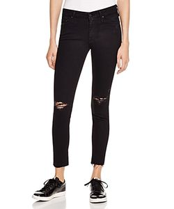 Mother   Looker Ankle Fray Jeans In