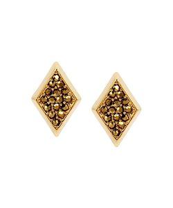 Charm & Chain | Encrusted Stud Earrings