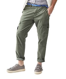 Michael Bastian | Cavalry Linen Twill Cargo Regular Fit Pants 100