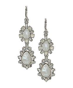 Marchesa | Double Drop Statement Earrings