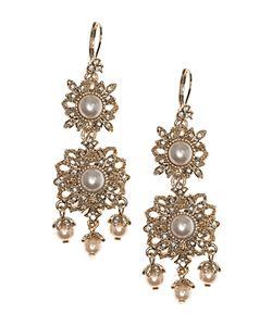 Marchesa | Ornate Chandelier Drop Earrings