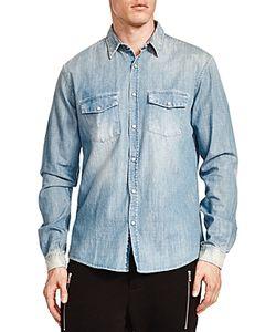 The Kooples | Faded Denim Slim Fit Shirt