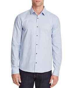 Hugo   Enosh Speckled Slim Fit Button-Down Shirt