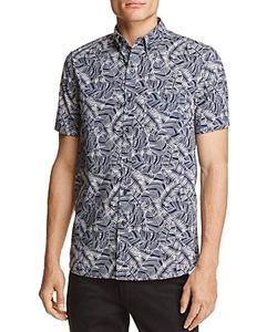 Michael Bastian | Banana Leaf Print Regular Fit Button-Down Shirt 100