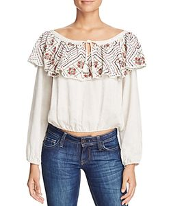 Piper | Bei Embroide Off The Shoulder Top