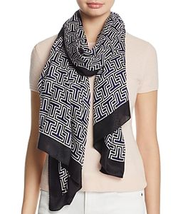 Tory Burch | Block T Logo Oblong Scarf