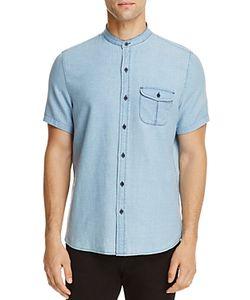 Michael Bastian | Banded Collar Regular Fit Button-Down Shirt