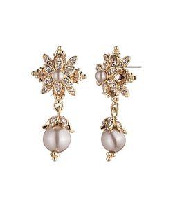 Marchesa | Flower Drop Earrings