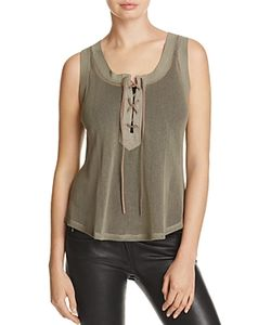 Majestic Filatures | Perforated Lace-Up Tank