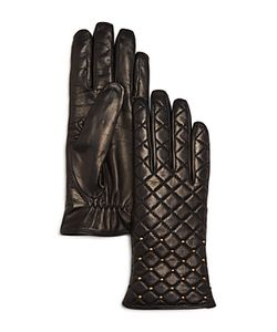 Bloomingdale's | Cashmere Lined Quilted Leather Gloves 100 Exclusive
