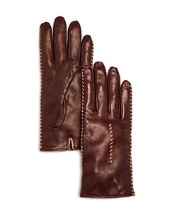 Bloomingdale's | Cashmere Lined Whip Stitch Leather Gloves 100 Exclusive