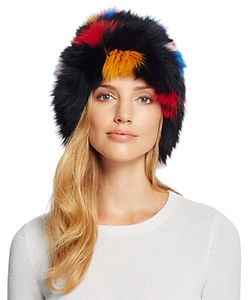 Loeffler Randall | Tall Fox Fur Hat