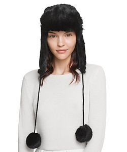 Surell | Rabbit Fur Knit Aviator Hat