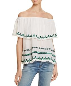 Piper | Embroidered Off The Shoulder Top 100 Exclusive