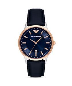 Emporio Armani | Leather Strap Watch 43mm
