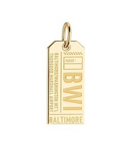 Jet Set Candy | Baltimore Maryland Bwi Luggage Tag Charm