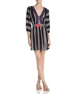 Piper | Ramones Embroide Lace-Up Dress