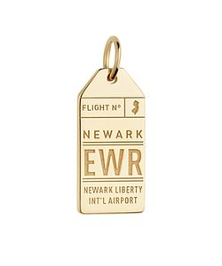 Jet Set Candy | Ewr New Jersey Luggage Tag Charm