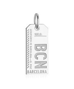 Jet Set Candy   Barcelona Spain Bcn Luggage Tag Charm