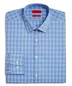 Hugo   Mabel Plaid Regular Fit Dress Shirt