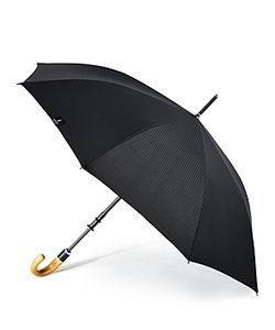 Shedrain | Stratus Chrome Stick With Wood Crook Handle Umbrella
