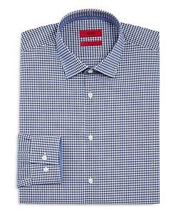 Hugo   Joey Gingham Shadow Check Slim Fit Dress Shirt