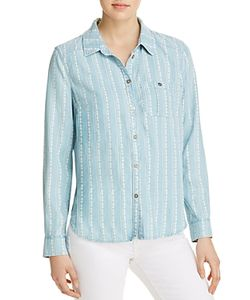 Paige | Trista Printed Chambray Shirt