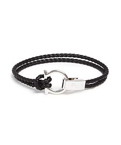 Salvatore Ferragamo | Braided Double Wrap Bracelet With Gancio Closure