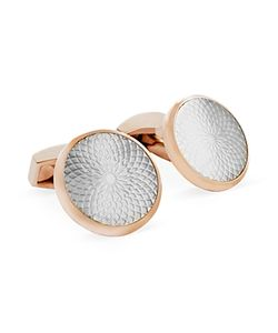 Tateossian | Mother Of Pearl Etched Circle Cufflinks
