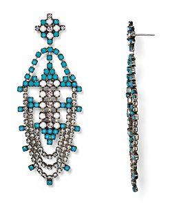 Dannijo | Vesta Large Drop Earrings