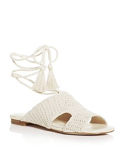 Joie | Fai Crochet Ankle Tie Sandals
