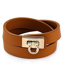 Salvatore Ferragamo | Gancini Double Wrap Leather Bracelet