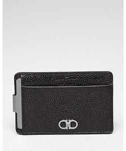 Salvatore Ferragamo | Ten-Forty One Pebbled Leather Money Clip Card Case