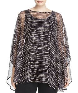 Eileen Fisher, Plus Size | Eileen Fisher Plus Abstract Stripe Print Poncho