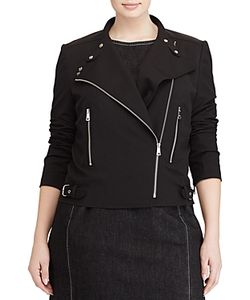 Ralph Lauren | Lauren Plus Twill Moto Jacket