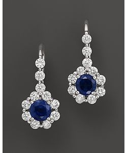 Bloomingdale's | Sapphire And Diamond Drop Earrings In 14k 100