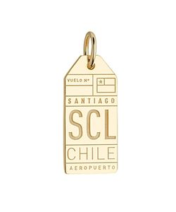 Jet Set Candy | Scl Santiago Chile Luggage Tag Charm