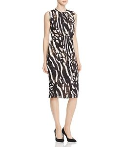 Max Mara | Nespola Pleated Animal-Print Dress