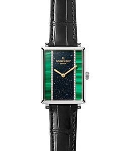 Gomelsky | The Shirley Fromer Strap Watch With Diamonds 32mm X 25mm