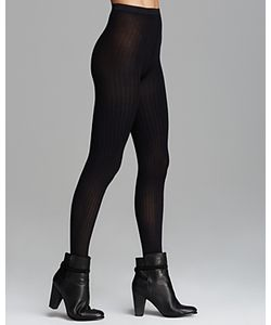 Wolford | Fine Cotton Ribbed Tights