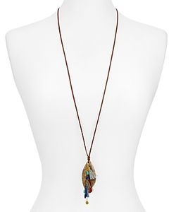 Chanluu | Leather Textured Pendant Necklace 34