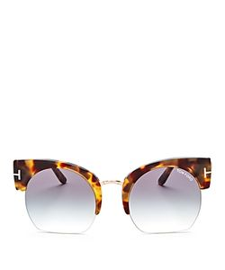 Tom Ford | Savannah Cropped Round Sunglasses 55mm