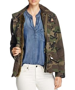 Jocelyn   J. Military Camo Fur-Lined Field Jacket 100 Exclusive