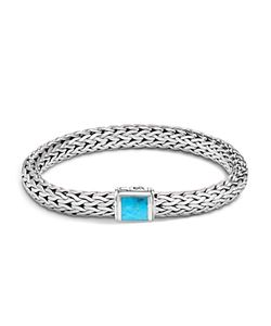 John Hardy | Sterling Classic Chain Bracelet With Turquoise