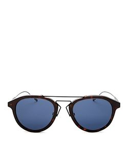Dior Homme | Dior Mixed Media Round Sunglasses 51mm